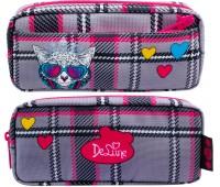 Пенал школьный Delune каркасный D-862 для девочки
