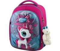 Рюкзак школьный Winner Stile 6012 для девочек розовый