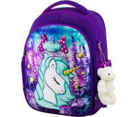 Рюкзак школьный Winner Stile 6015 для девочек фиолетовый