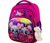 Рюкзак школьный Winner Stile 7004 для девочек розовый