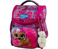 Рюкзак-ранец Winner ONE 2038 для девочки школьный ортопедический розовый