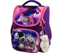 Рюкзак-ранец Winner ONE 2039 для девочки школьный ортопедический фиолетовый