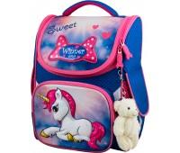 Рюкзак-ранец Winner ONE 2040 для девочки школьный ортопедический голубой