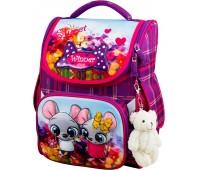 Рюкзак-ранец Winner ONE 2041 для девочки школьный ортопедический фиолетовый