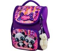 Рюкзак-ранец Winner ONE 2042 для девочки школьный ортопедический фиолетовый