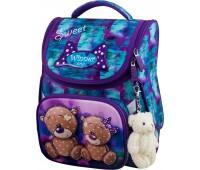 Рюкзак-ранец Winner ONE 2044 для девочки школьный ортопедический фиолетовый