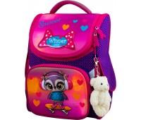 Рюкзак-ранец Winner ONE 2053 для девочки школьный ортопедический фиолетовый