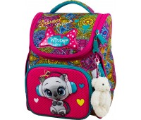 Рюкзак-ранец Winner ONE 2046 для девочки школьный ортопедический розовый