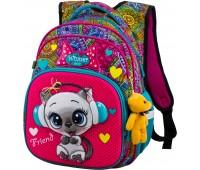 Рюкзак школьный Winner ONE R3-220 для девочек розовый
