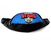 Сумка Бананка на пояс Cappuccino Toys Brawl Stars Бравл Старс 1533-13 черная с синим