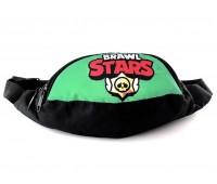 Сумка Бананка на пояс Cappuccino Toys Brawl Stars Бравл Старс 1533-13 черная с зеленым