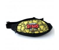 Сумка Бананка на пояс Cappuccino Toys Brawl Stars Бравл Старс 1533-13 черная с желтым