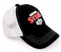 Кепка Бравл Старс Brawl Stars детская Gear Bag  белая с черным