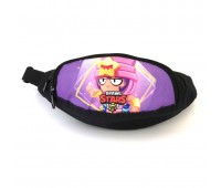 Сумка Бананка на пояс Cappuccino Toys Brawl Stars Бравл Старс 1533-13 черная с фиолетовым