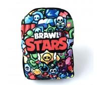 Рюкзак Бравл Старс подростковый Cappuccino Toys Brawl Stars 1533-42 цветной принт
