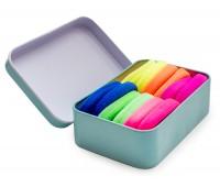 Резинка для волос Ассорти в футляре (комплект 12 штук) + шкатулка фламинго