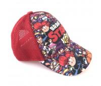 Кепка Бравл Старс Brawl Stars детская Gear Bag  красная (red-all-heroes)