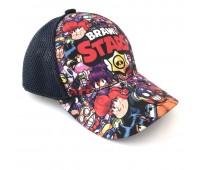 Кепка Бравл Старс Brawl Stars детская Gear Bag  синяя (D-blue-all-heroes)