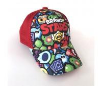 Кепка Бравл Старс Brawl Stars детская Gear Bag  красная (Red-manysign)