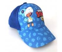 Кепка Бравл Старс Brawl Stars детская Gear Bag  синяя (Blue-Leon-Shark)
