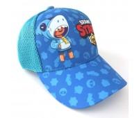 Кепка Бравл Старс Brawl Stars детская Gear Bag  голубая (L-Blue-Leon-Shark)