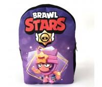 Рюкзак подростковый Cappuccino Toys Бравл Старс Brawl Stars 1533-41 черный с фиолетовым