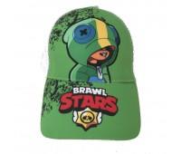 Кепка Бравл Старс Brawl Stars детская Gear Bag  белая с зеленым (Gren-Leon-H)