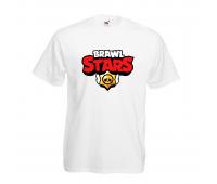 Футболка детская Бравл Старс (Brawl Stars) белая 104 см