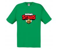 Футболка детская Бравл Старс (Brawl Stars) зеленая 104 см