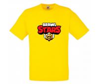 Футболка детская Бравл Старс (Brawl Stars) желтая 104 см