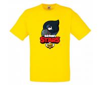 Футболка детская Бравл Старс Ворон (Brawl Stars Voron) желтая 104 см