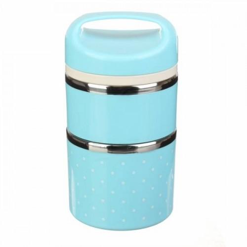 Термо ланч-бокс  Thermo LP64-1016 голубой, 1080 мл