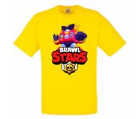 Футболка детская Бравл Старс Вольт (Brawl Stars Surge) желтая 128 см