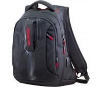 Рюкзак Winner 399-19 подростковый черный с красным