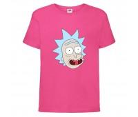 Футболка Рик и Морти (Rick and Morty) розовая 116 см