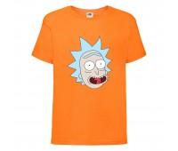 Футболка Рик и Морти (Rick and Morty) оранжевая 116 см
