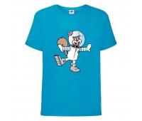 Футболка  Спанч Боб 27 (Sponge Bob) голубая