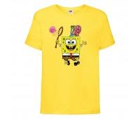 Футболка  Спанч Боб 28 (Sponge Bob) желтая