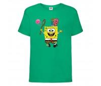 Футболка  Спанч Боб 28 (Sponge Bob) зеленая