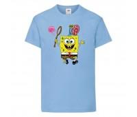 Футболка  Спанч Боб 28 (Sponge Bob) светло-голубая