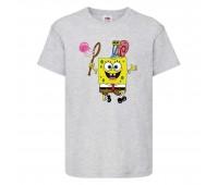 Футболка  Спанч Боб 28 (Sponge Bob) серая