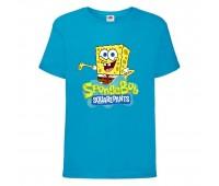 Футболка  Спанч Боб 29 (Sponge Bob) голубая