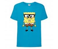 Футболка  Спанч Боб 30 (Sponge Bob) голубая