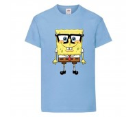 Футболка  Спанч Боб 30 (Sponge Bob) светло-голубая