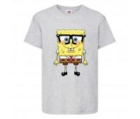 Футболка  Спанч Боб 30 (Sponge Bob) серая