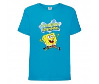 Футболка  Спанч Боб 31 (Sponge Bob) голубая