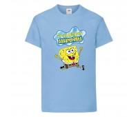 Футболка  Спанч Боб 31 (Sponge Bob) светло-голубая