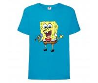 Футболка  Спанч Боб 32 (Sponge Bob) голубая