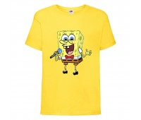 Футболка  Спанч Боб 32 (Sponge Bob) желтая