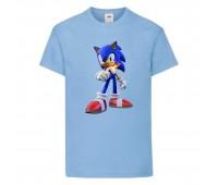 Футболка детская Соник и пламя (SONIC) голубая (snc  sbl-3) 104 см